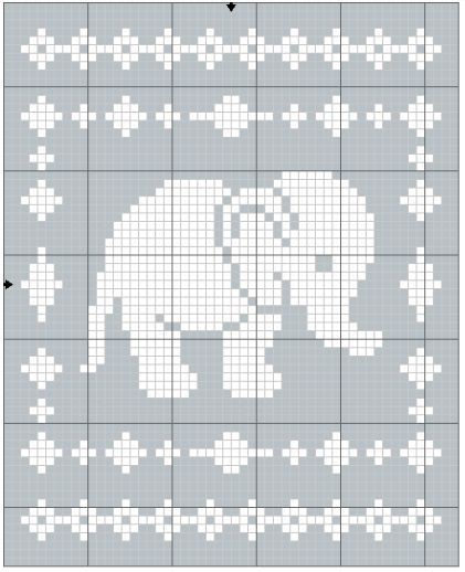 Filet Elephant Blanket Crochet Pattern The Lavender Chair Couverture A Motifs En Crochet Modeles De Filet Au Crochet Couvertures Au Crochet Pour Debutants