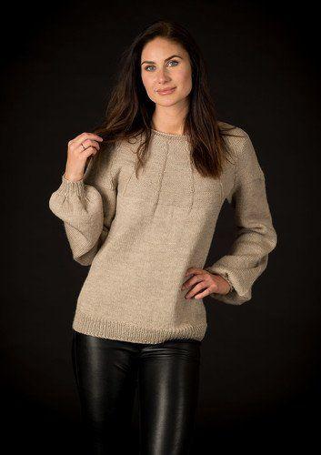 a6c4a85d Sweater med ballonærmer/alm ærmer   Strik og opskrifter   Strikkeopskrift  trøje, Strikkeopskrifter og Bluse