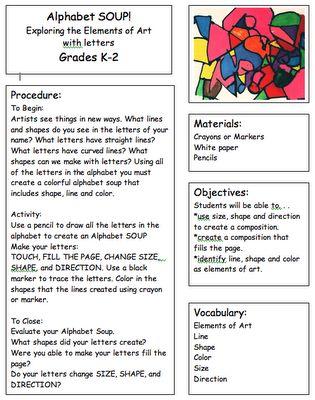 kindergarden art lesson plans
