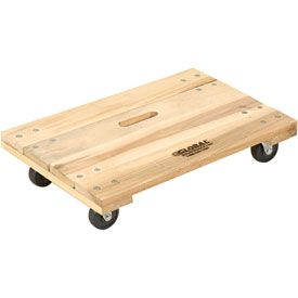 Hardwood Dolly With Solid Deck 24 X 16 1000 Lb Capacity Furniture Dolly Hardwood Moving Supplies