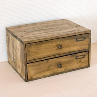 Chest Storing Box Wooden A4 Size