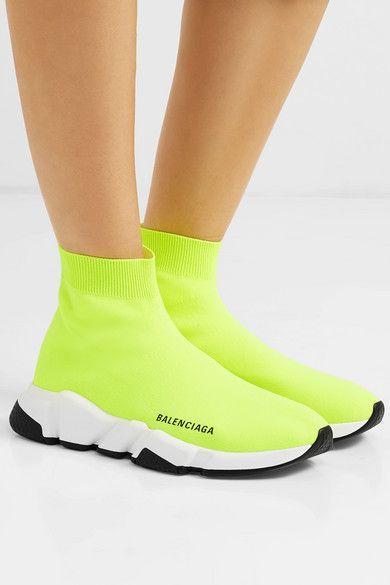 Neon logo, High top sneakers, Balenciaga