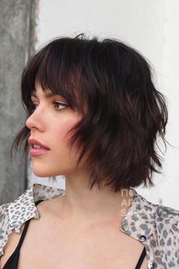 27 Short Hairstyles To Try In 2021 Short Hair With Bangs Chin Length Hair Thick Hair Styles