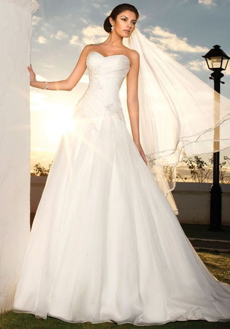 A Line Strapless Sweetheart French Mikado Wedding Dress Style Dresses Pinterest And