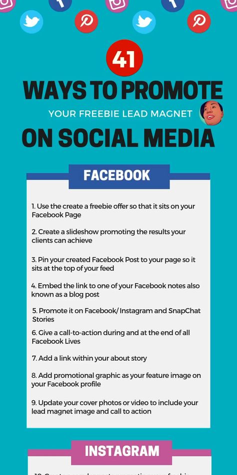 Created Your Lead Magnet And Now Ready To Promote It Online?   Check Out These 41 Ways To Promote Your Freebie On Social Media.   #ListBuildingstrategytips #FreebieLeadmagnet #Promotionalonlinetips Buy Instagram Impressions