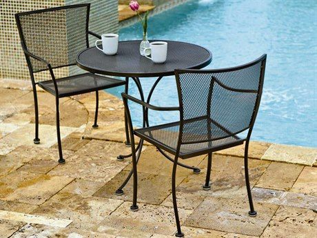 Woodard Amelie Wrought Iron Bistro Set In 2021 Wrought Iron Patio Furniture Outdoor Patio Decor Patio Furniture