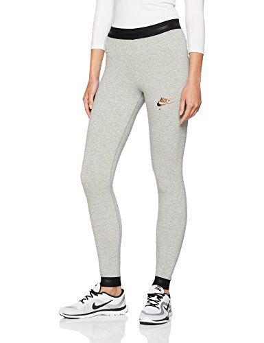 formar esfuerzo Hazlo pesado  Nike Air Mallas de Entrenamiento, Mujer, Gris (Dk Grey Heather ...