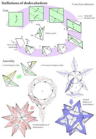 Weihnachtsgeschenke D.Unit Origami Diagrams の画像検索結果 D Origami Engel Falten
