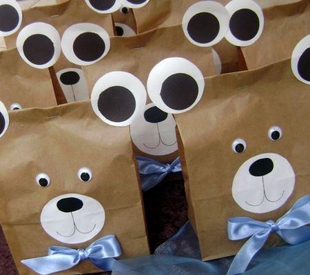 Favor Bags | Fiesta de Valentina | Pinterest | Favor bags, Teddy ...