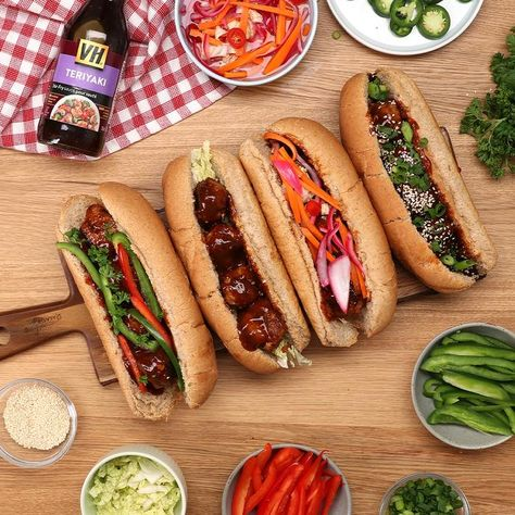 A little spicy, a little sweet — these Sriracha Turkey Teriyaki Meatball Sandwiches are the perfect dinner treat.
