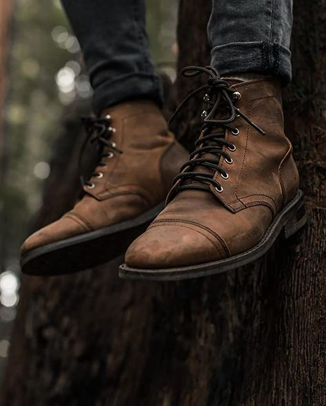 Brown Boots Outfit, Casual Boots, Mens Boots Fashion, Walking Boots, Herren Outfit, Look Fashion, Fashion 2020, Fashion Trends, Timberland Mens