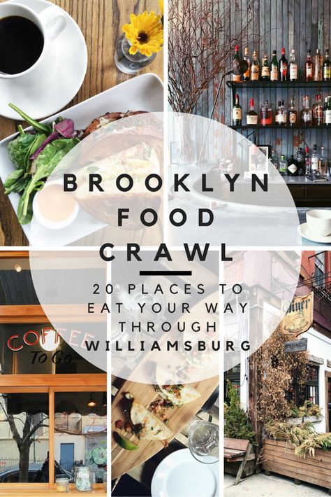 "Food is one of the universal keys to understanding any culture, so it's time to dive ""fork first"" into the trendy Brooklyn neighborhood of Williamsburg. Come hungry and spend the day eating and drinking your way around Williamsburg with this food crawl itinerary! Find out where to eat in Williamsburg with these 20 different spots."