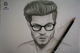نتيجة بحث الصور عن رسم عيون رجل بورتريه Pencil Drawings Male Sketch Art