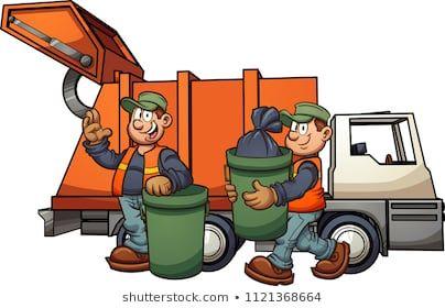 Cartoon Garbage Men With Truck Picking Up Trash Vector Clip Art Illustration With S Camion De Basura Manualidades De La Biblia Para Ninos Dibujar Caricaturas