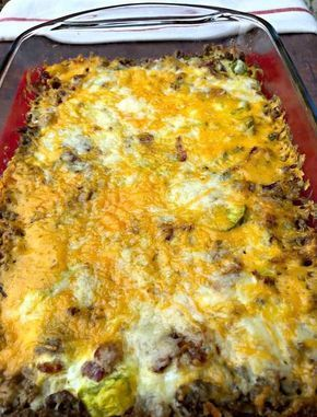 Easy Keto Low Carb Bacon Cheeseburger Casserole Is A Simple Ground Beef Recipe That Beef Recipes For Dinner Ground Beef Recipes For Dinner Keto Recipes Dinner