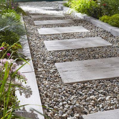 Bordure Palissade 80 X 10 Cm Bois Blanchi En 2020 Avec Images Bordure Jardin Bois Bordure Jardin Jardins
