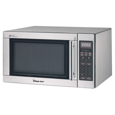 Magic Chef 1 6 Cu Ft 1100w Microwave Oven Mcpmcd1611st Magic Chef Stainless Steel Microwave Stainless Microwave