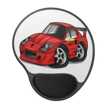 Red Car Cartoon Cars For Kids Little Cars Gel Mouse Pad