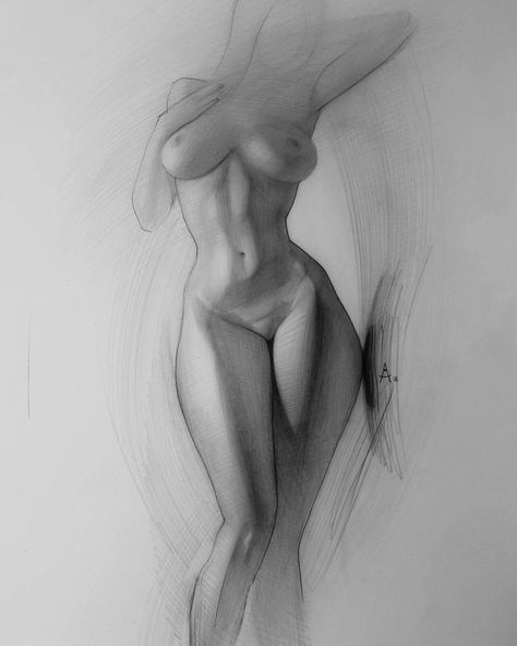 Nude sketch art print by cecile poletti