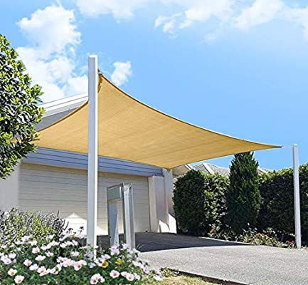 Amazon Com Diig Patio Sun Shade Sail Canopy 12 X 16 Rectangle Shade Cloth Outdoor Cover Uv Resistant Sunshad Outdoor Sun Shade Sun Sail Shade Shade Sail