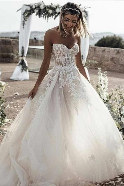 This Is A Made To Order Product This Glam Wedding Dress Is The Epitome Of Glamorous Bridal S Wedding Dress Train Wedding Dresses Lace Sweetheart Wedding Dress