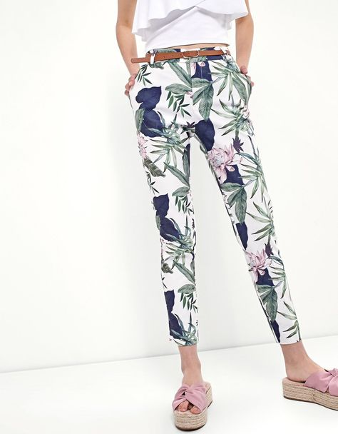 Tropical print trousers - Just in