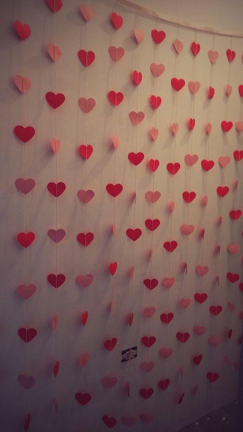Cortina de coração para decoração - tamanho: 2x2 -  Temos disponiveis todas as cores e tamanhos!