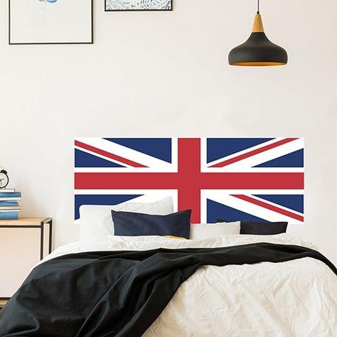 Tête De Lit Union Jack Drapeau Anglais Grande Bretagne