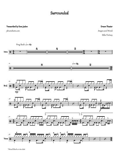 Dream Theater Images And Words Full Drum Transcription Payhip