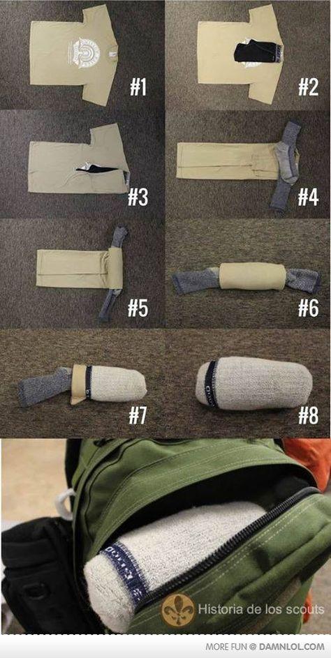 Gefunden bei @sheego    Backpacker Tipp - zum Platzsparen ;) #wandern #backpacker #urlaub