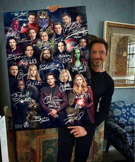 Avengers Endgame Marvel Comics Superheroes Signatures Portrait Poster No Frame