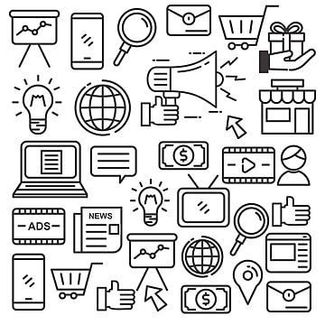 Digital Marketing Doodle Vector Illustration Suitable For Background Doodle Clipart Marketing Market Png And Vector With Transparent Background For Free Down Digital Marketing Vector Illustration Powerpoint Animation