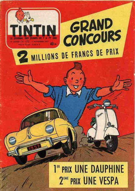 Renault Dauphine publicité Tintin magazine