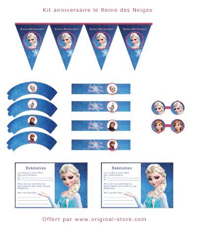 Kit décoration gratuit pour un anniversaire Reine des Neiges
