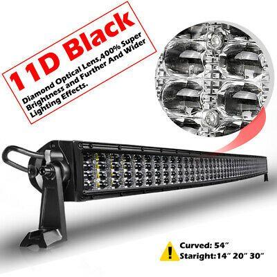 Ad Ebay 54 2080w Quad Row Curved Led Light Bar Spot Flood