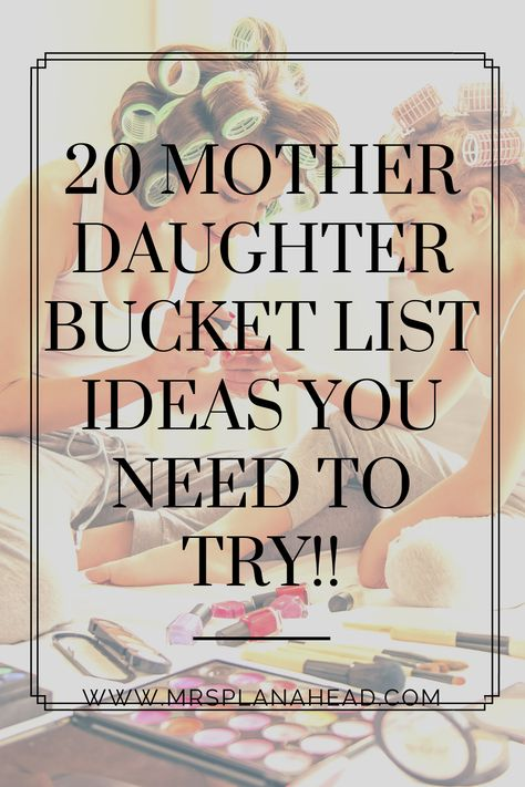 20 mother daughter activities listed for moms wanting to spend more quality time with their daughters. 20 simple and fun mommy and me things to do for you and your daughter. Mom Daughter Dates, Mother Daughter Crafts, Mother Daughter Activities, Daughters Day, First Daughter, Little Mac, Mother Daughter Relationships, Raising Girls, Beautiful Baby Girl