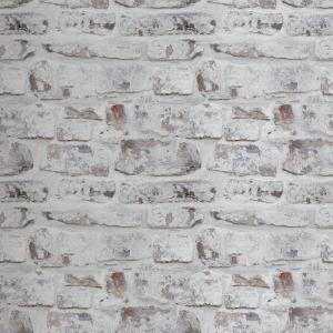 Roommates Brick Alley Vinyl Peelable Wallpaper Covers 28 18 Sq Ft Rmk11080wp The Home Depot Brick Wallpaper White Brick Wallpaper Faux Brick Wallpaper