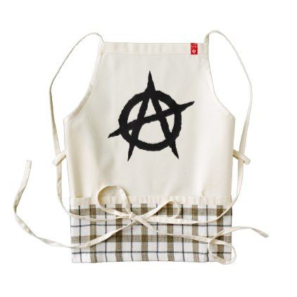 Anarchy Symbol Black Punk Music Culture Sign Chaos Zazzle Heart Apron Black Gifts Unique Cool Diy Customize Personaliz Red Gifts Punk Music Kitchen Gifts Diy