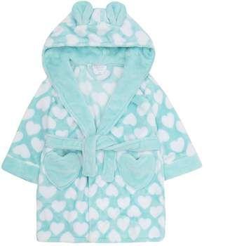 MiniKidz Boys Star Hooded Dressing Gown Blue