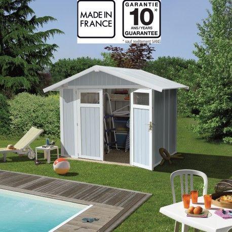 Abri De Jardin En Pvc 4 9m Utility Blanc Et Gris Bleu Grosfillex Abri De Jardin Grosfillex Cabane Jardin