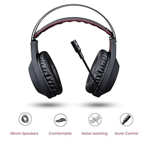 3.5... NUBWO Gaming Headphone with Microphone for Pc Mac Ps4 Xboxone Table Phone