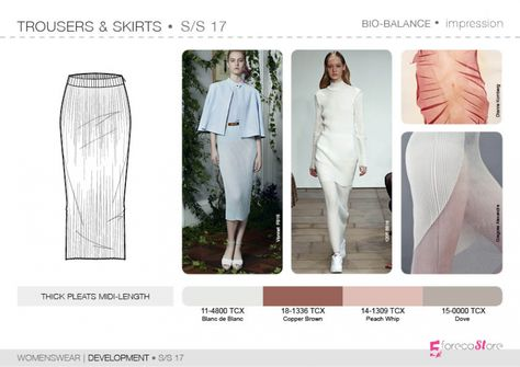 Bourgeoise, Flamboyant, Impression, Survivalist SS17 | Womenswear| Development | Trousers & Skirts | 5forecastore