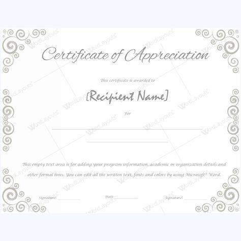 Certificate Of Appreciation For Teachers #appreciationword - certificate of appreciation words