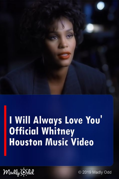 "Whitney Houston sings 'I Will Always Love You' from ""The Bodyguard"" movie. #movies #music #whitneyhouston #entertainment #videos"