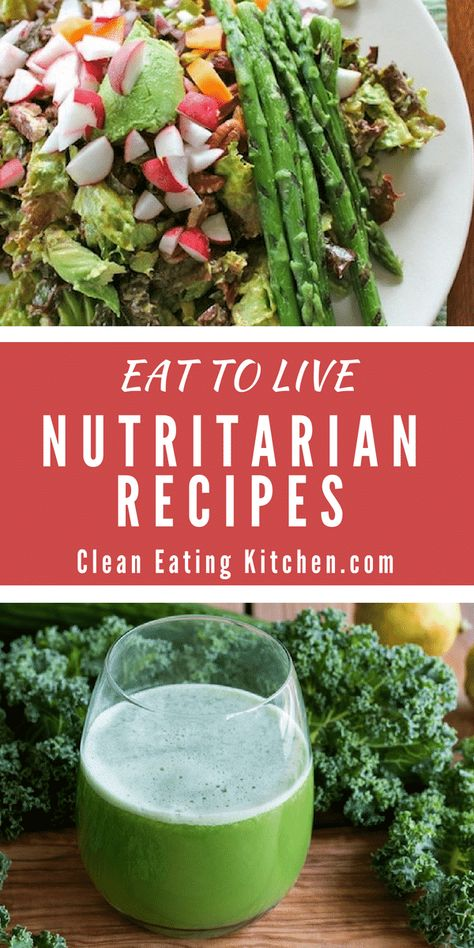 The best Eat to Live recipes that support a nutritarian diet. Recipes for when y… The best Eat to Live recipes that support a nutritarian diet. Recipes for when you're getting started on Dr. Fuhrman's Eat to Live nutritarian diet. Plant Based Eating, Plant Based Diet, Plant Based Recipes, Whole Food Recipes, Diet Recipes, Healthy Recipes, Low Fat Vegan Recipes, Healthy Snacks, Dr Fuhrman Recipes
