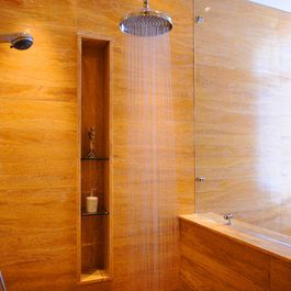 Shower Shelf Design Ideas Pictures Remodel And Decor Glass Shower Shelves Bathroom Design Inspiration Narrow Bathroom Designs