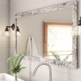 Union Rustic Landover Rustic Bathroom Vanity Mirror Reviews Wayfair Distressed Bathroom Vanity Rustic Bathroom Vanities Bathroom Vanity Mirror