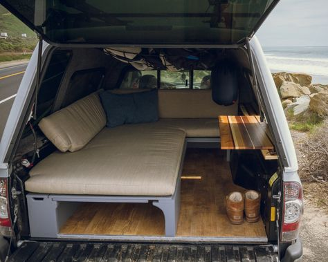 Tacoma Mobile Office/Surf Camper — Rig Racks – Cars is Art Toyota 2000gt, Toyota Tercel, Toyota Tundra, Autos Toyota, Toyota Corolla, Suv Camping, Truck Topper Camping, Pickup Camping, Truck Toppers