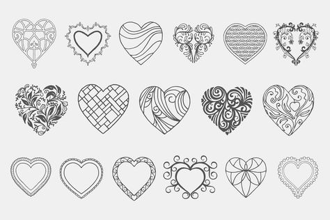 Decorative Heart Vectors Volume 1 #formats#easily#EPS#file