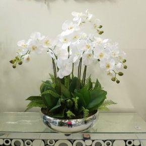 6 Arranjo De Orquideas White Flower Arrangements Tropical